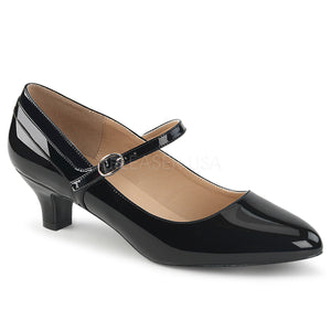 black Mary Jane pump with 2-inch kitten heel Fab-425