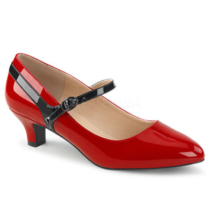 red Mary Jane pump with 2-inch kitten heel Fab-425