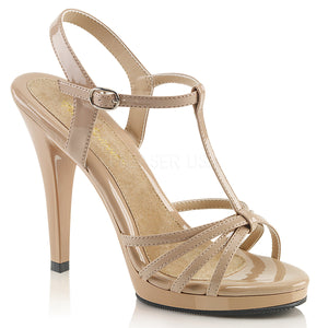 strappy nude platform sandals with 4-inch stiletto heels Flair-420