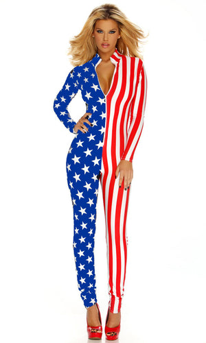 American Flag Stars and Stripes Jumpsuit