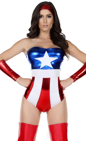 FP-555102 Captivating Champion 3-pc Superhero Costume