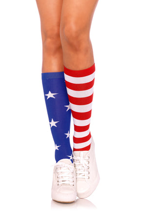 USA American Flag Knee High Stockings