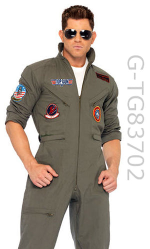 TG83702 Men's Top Gun Flightsuit and Sunglasses