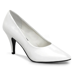 Classic white pump shoes with 3-inch spike heels Pump-420