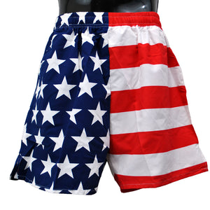 American flag men's swimsuit trunks