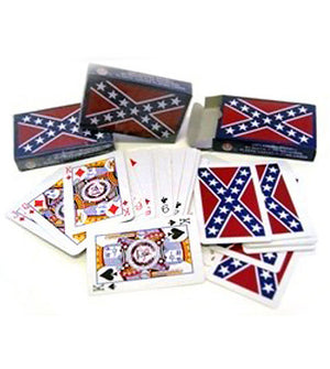 RF-1570 Rebel Confederate Flag Playing Cards 2-Sets