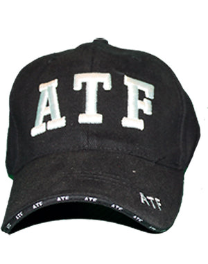 RF-301382 Black ATF Officer Cap