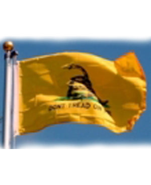 835511 Gadsden -DON'T TREAD ON ME- yellow polyester flag