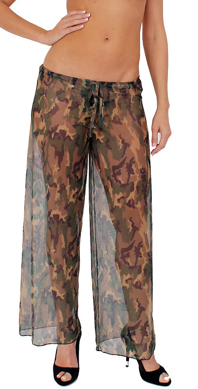 Camouflage Sheer Beach Pants