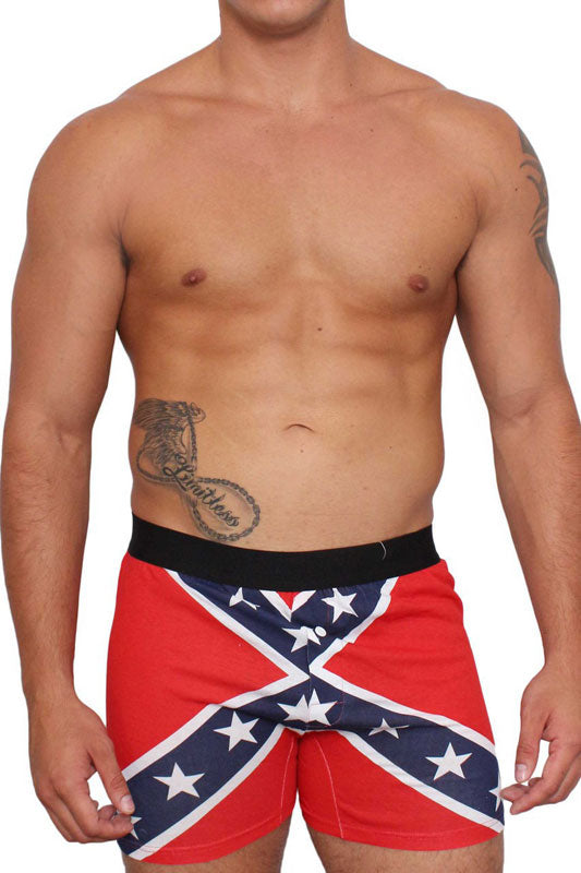 Rebel Confederate Flag Men's Boxer Shorts