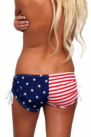 back view of USA American flag string shorts ST432B