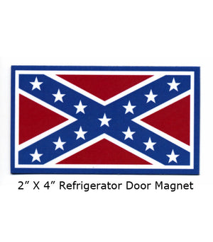 WC-MAG7 Rebel Flag Magnet for Refrigerator Door