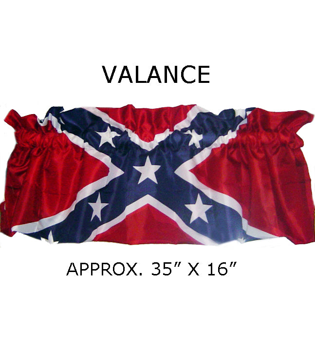 Rebel Flag 35-inch X 16-inch Curtain Valance