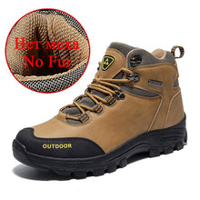 Brand Classic Men Winter Snow Boots Super Warm Fur Male Ankle Boots Men Waterproof Non-slip Hiking Shoes Male Autumn Basic Shoes