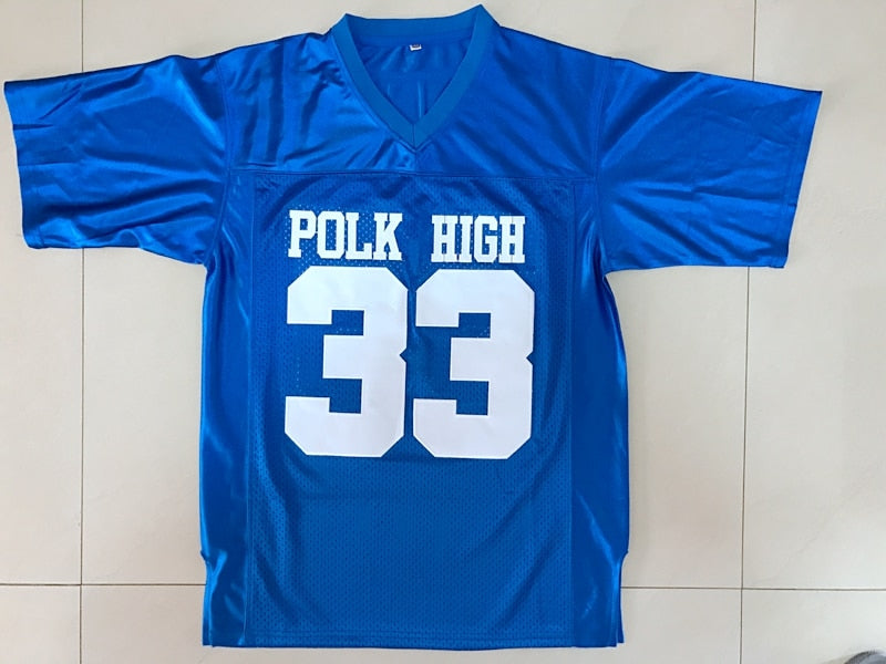 American Football Jersey Married with Children Al Bundy 33 Polk High Blue All Stitched