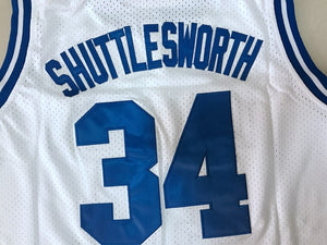 Men's Jesus Shuttlesworth #34 Lincoln Basketball Jersey All Stitched White