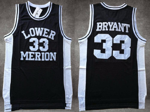Men's kobe Bryant #33 Lower Merion High School Basketball Jersey High School
