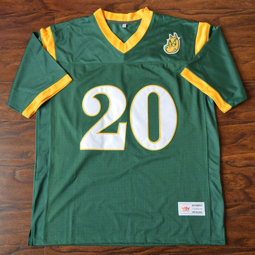 Men's Snoop Dogg #20 N. Hale High Football Jersey Stitched Green