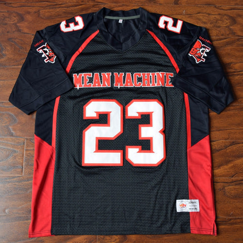 Men's Earl Megget #23 Mean Machine Football Jersey Stitched Black