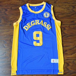 Men's Jimmy Brooks #9 Degrassi Basketball Jersey Stitched Blue