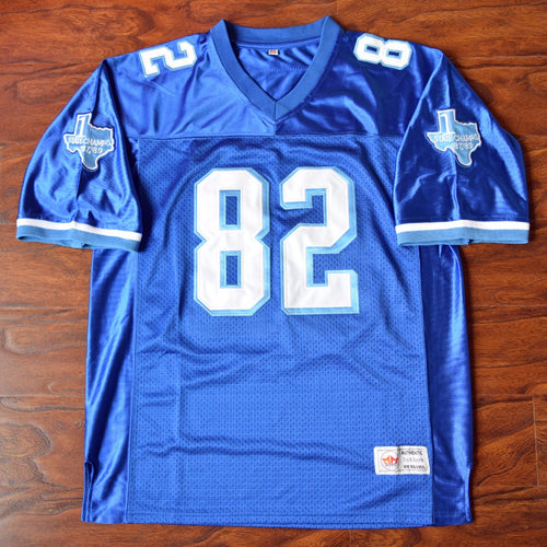 Men's Charlie Tweeder #82 Football Jersey Stitched Blue - Varsity Blues
