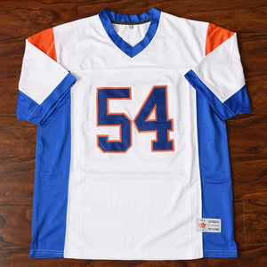 Men's Thad Castle #54 Blue Mountain State Football Jersey Stitched White