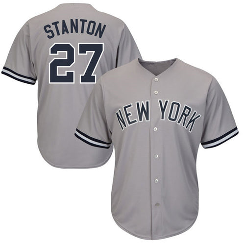 Men's Giancarlo Stanton Jersey 2018 New York Mens Gray White Navy Baseball Jerseys