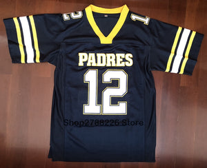 Tom Brady #12 American Football Jersey  Serra Padres High School  Throwback Stitched