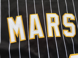 Bruno Mars 24K Hooligans Baseball Jersey Shirt Black White Red Stitched