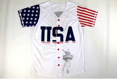 USA Baseball Jersey #45 Donald Trump Commemorative Edition Stitched White