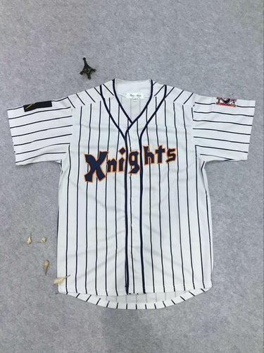 Mens New York Knights 9 Roy Hobbs Stitched Baseball Jersey Throwback