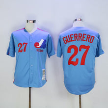 Vladimir Guerrero 27 Jersey Montreal Expos Baseball Jersey All stitched Retro Color