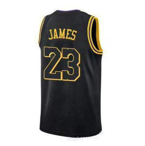 Los Angeles Lakers Lebron James 23 city edition Black 2018 Basketball Jerseys