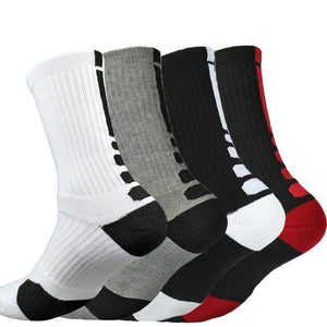 Men's Outdoor Sports Elite Basketball  Football Cycling Thicker Towel Bottom anti slip with rubber Socks