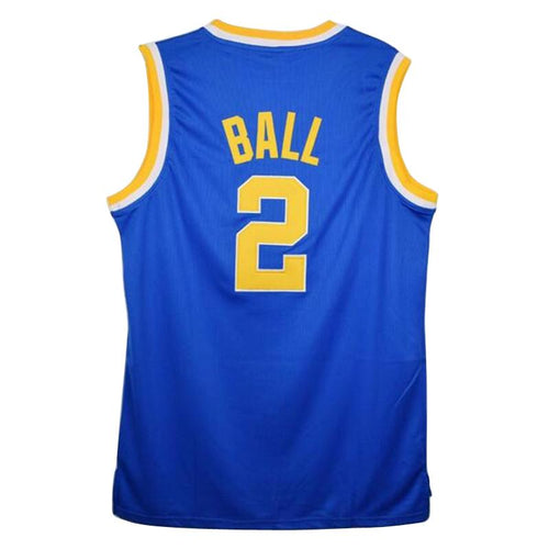 Men's Lonzo Ball 2 UCLA College Basketball Jersey Men's Throwback Shirt All stitched