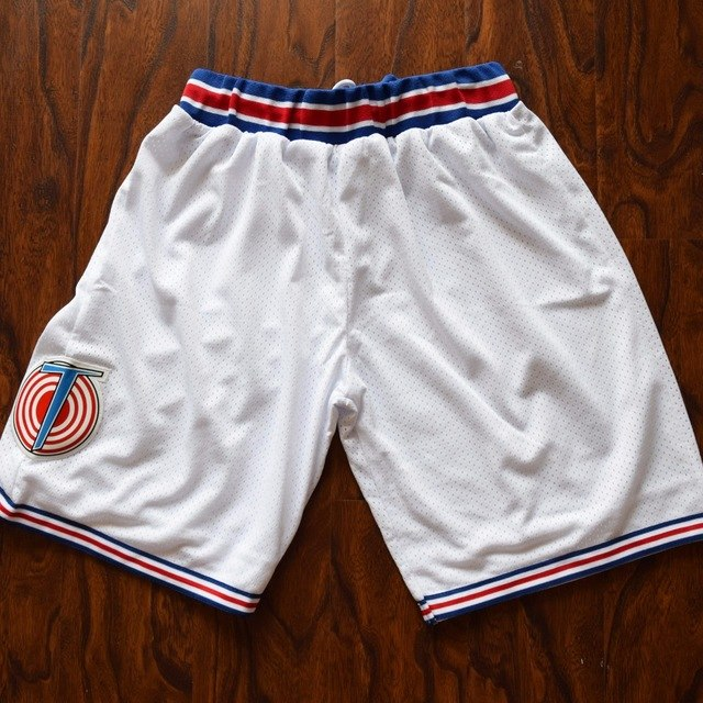 Space Jam TuneSquad Basketball Shorts Color White Fast shiping