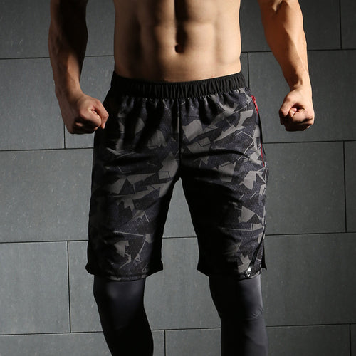 2018 New Quick Dry Mens Camouflage shorts Beach Short for Men Athletic Marathon Running Gym
