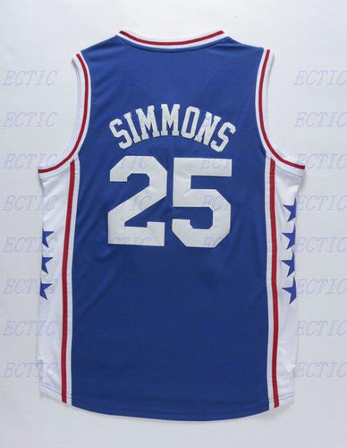 2018 new Ben Simmons #25 Retro Throwback Stitched Basketball Jersey Sewn Stitched
