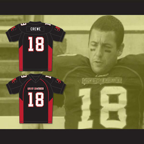 Paul Crewe 18 Mean Machine Convicts Movie Football Jersey Adam Sandler Black Stitched Sewn