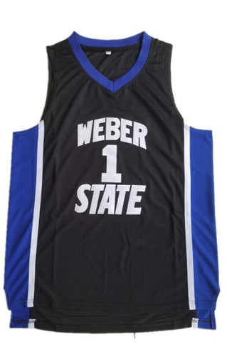 Mens Damian Lillard #1 Weber State College Retro Throwback Basketball Jersey  All Stitched