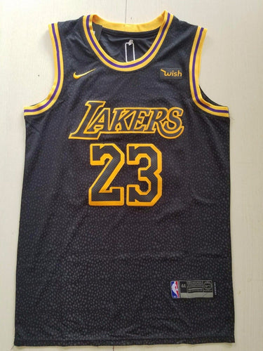 Men's  basketball jersey Lakers 23 Lebron James black basketball jersey