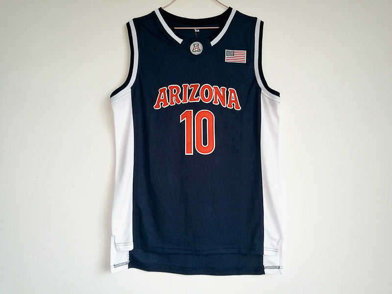 Mike Bibby 10 Arizona State Basketball Jersey Throwback Men's  All stitched