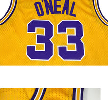Cheap USA Basketball Jersey #33 O'NEAL LSU Men Breathable Yellow Throwback Stitched
