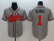 2018 Men's Baseball Jerseys  Atlanta Braves  Mens Ozzie Albies 1  Stitched