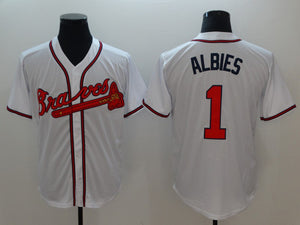 2018 Men s Baseball Jerseys Atlanta Braves Mens Ozzie Albies 1 Stitched 59231039c