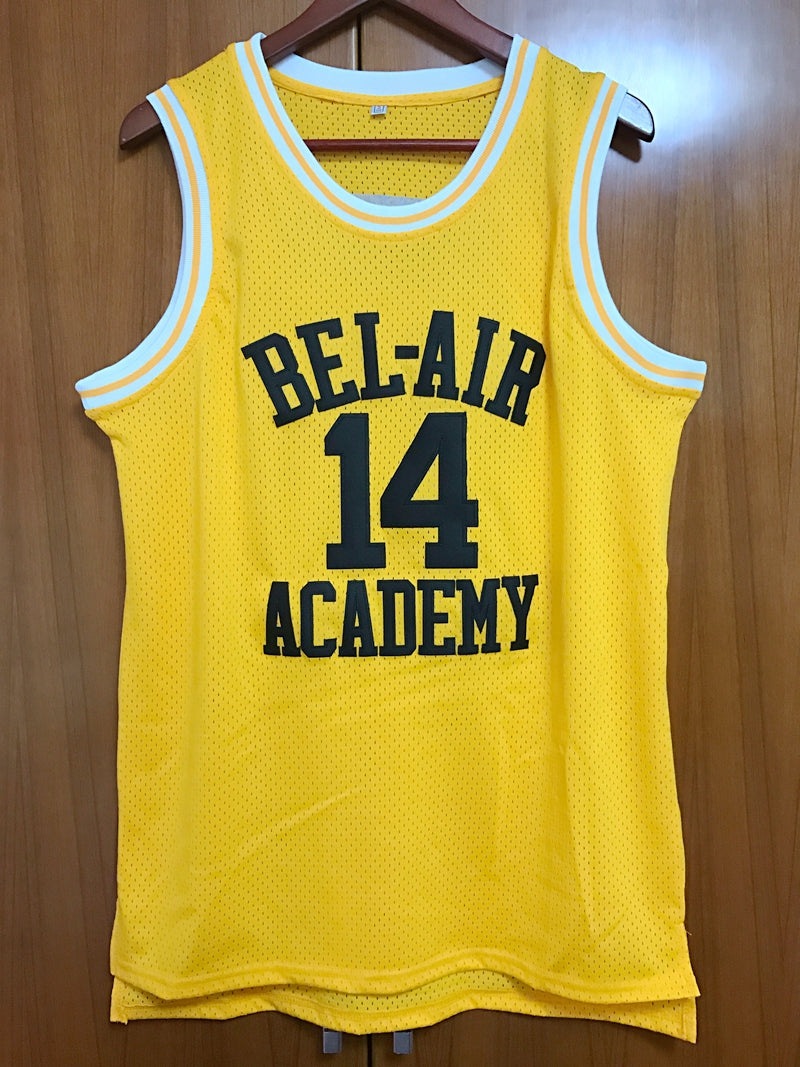 Men's Will Smith #14 The Fresh Prince Of Bel-Air Basketball Jersey All stitched  Yellow