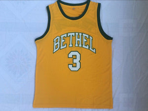 Men's Allen Iverson #3 Bether High School Basketball Jersey Stitched Yellow