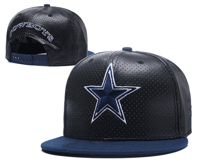 Black leather North American football team fans flat caps Foreign trade hip hop baseball sports hats