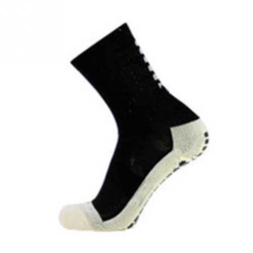 Football Soccer Socks Anti Slip Rubber Padded Sole Mid-calf Adults Men Women Unisex Friction Socks