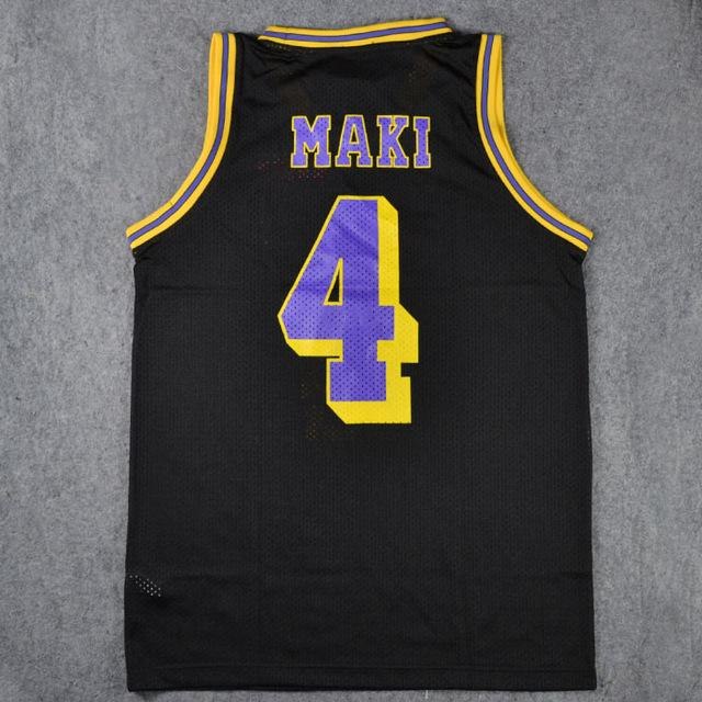 Anime #4 SHINICHI MAKI Cosplay Guest Black Basketball Jersey Tops Shirts Team Uniform 2019